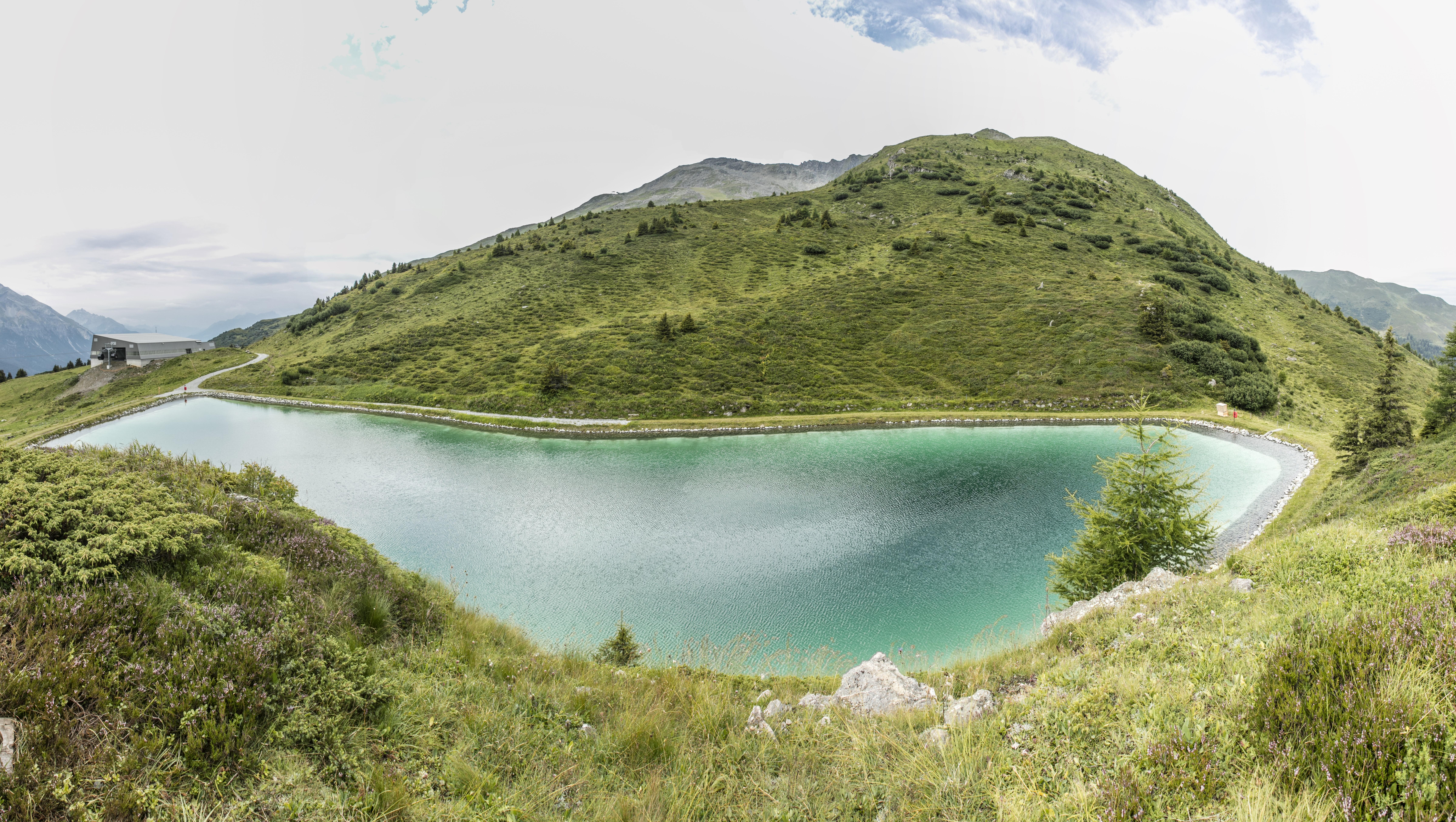Speichersee Heidbüel, © Bergbahnen Graubünden, Thomas Hablützel