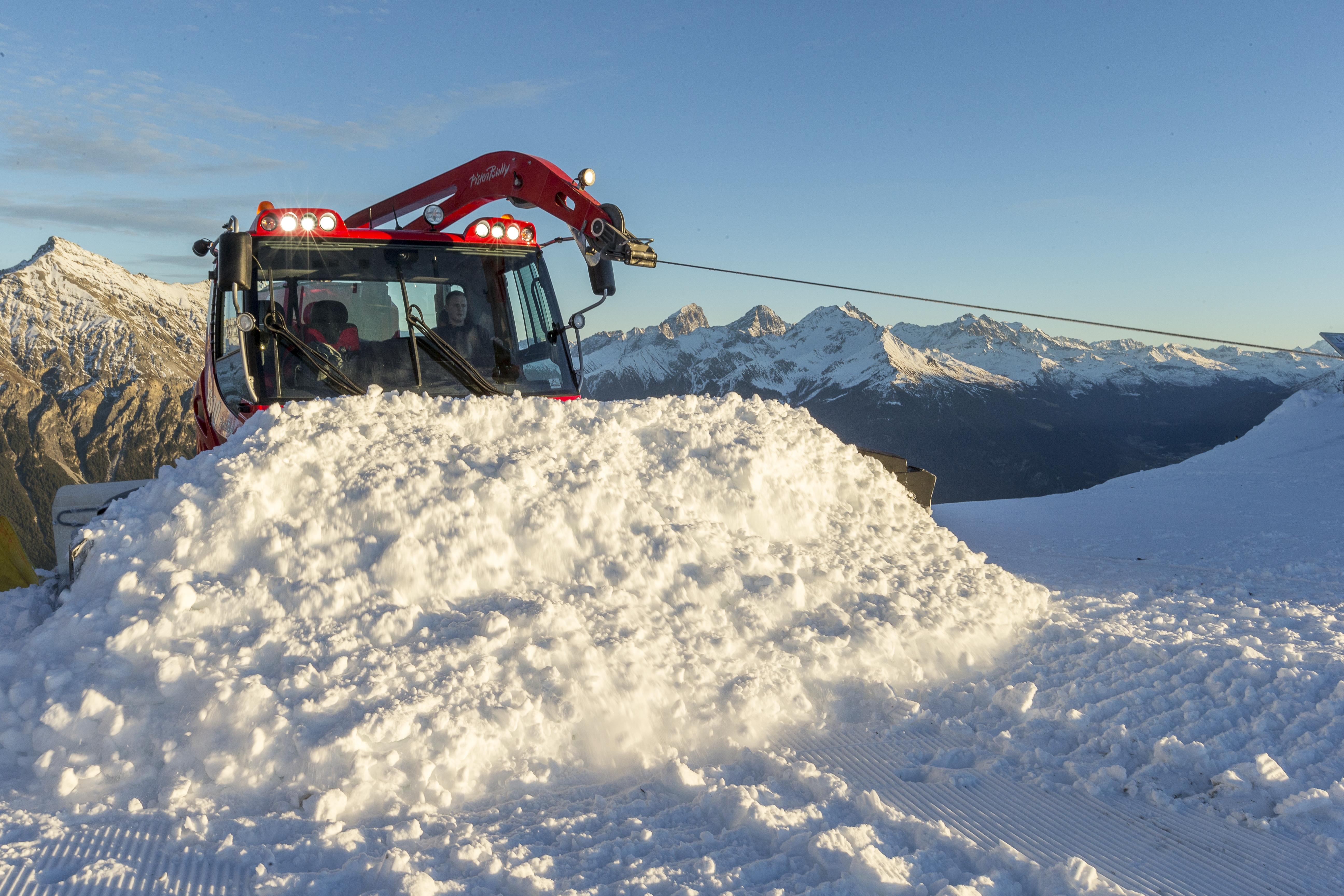 Schneemanagement, © Bergbahnen Graubünden, Thomas Hablützel