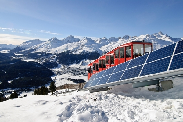 Solaranlage Muottas Muragl, © Engadin St. Moritz Mountains AG