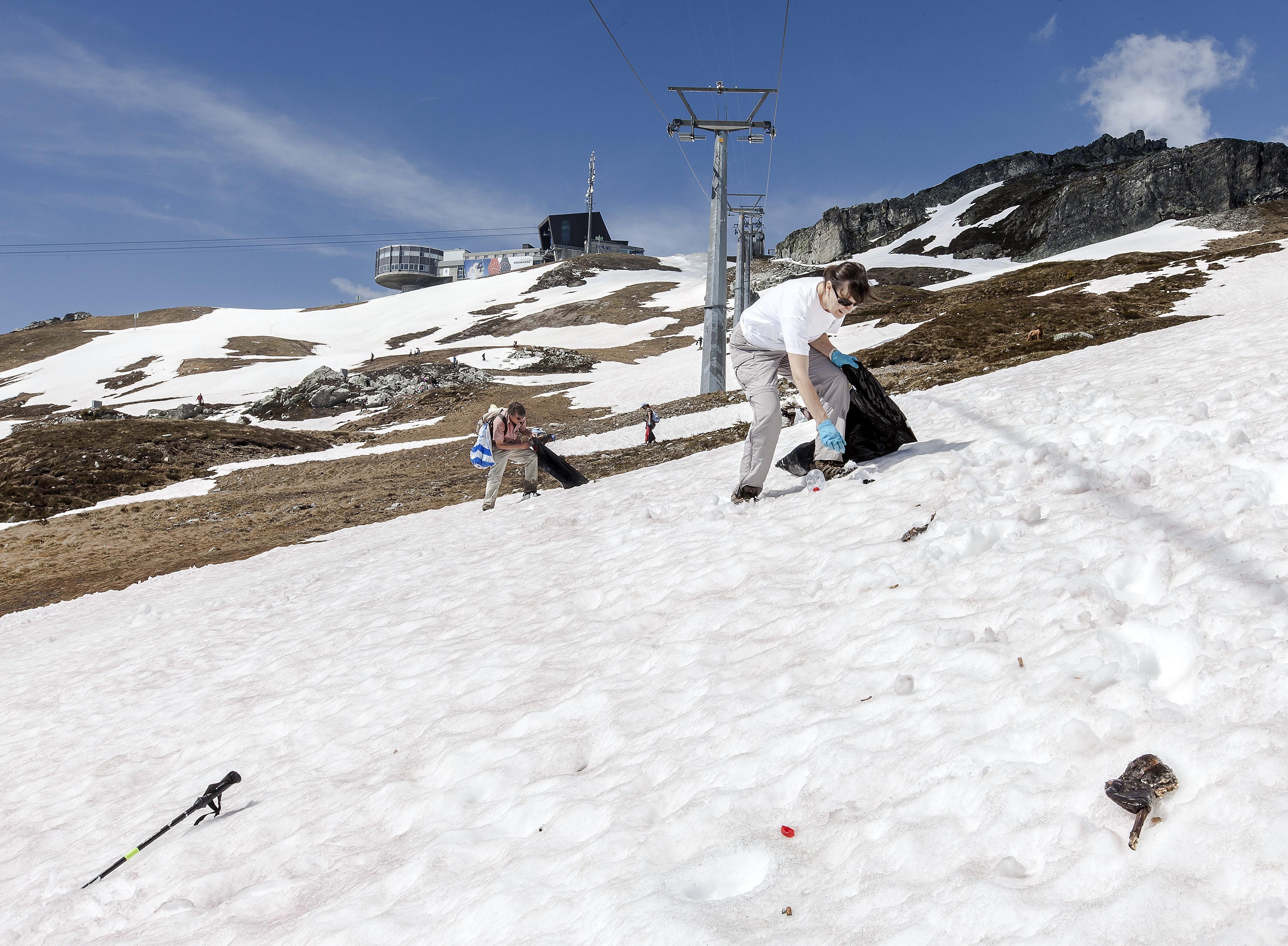 Clean up day Plaun, © Bergbahnen Graubünden, Thomas Hablützel