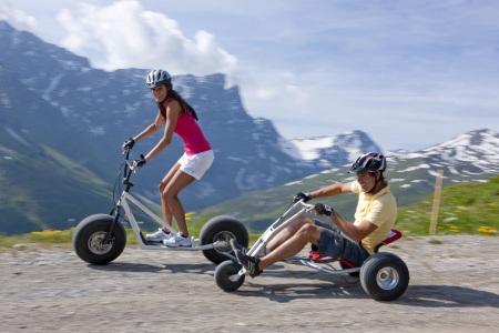 Monstertrottinett & Mountaincart, © Savognin Bergbahnen AG