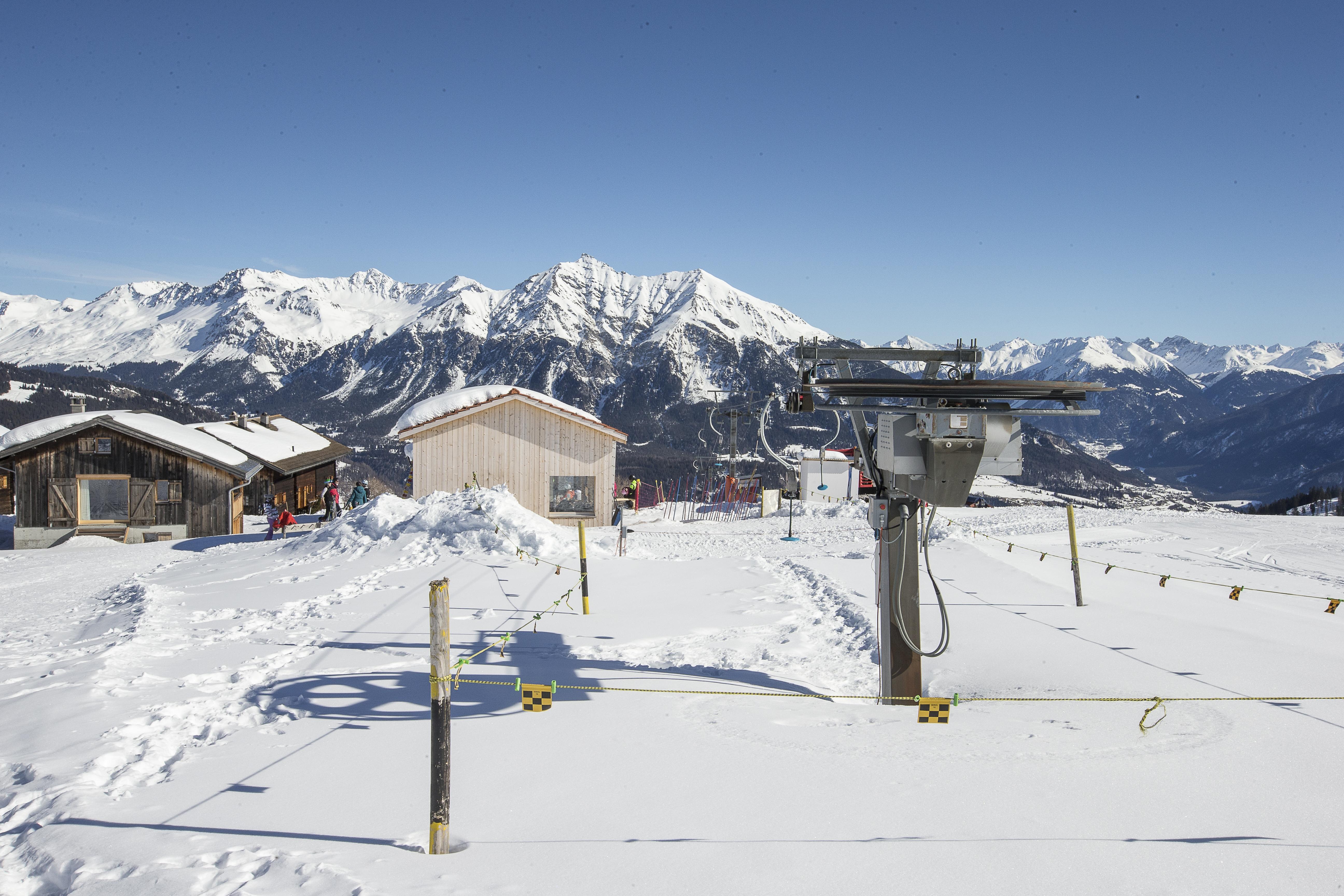 Skilift Obermutten, © Bergbahnen Graubünden, Thomas Hablützel