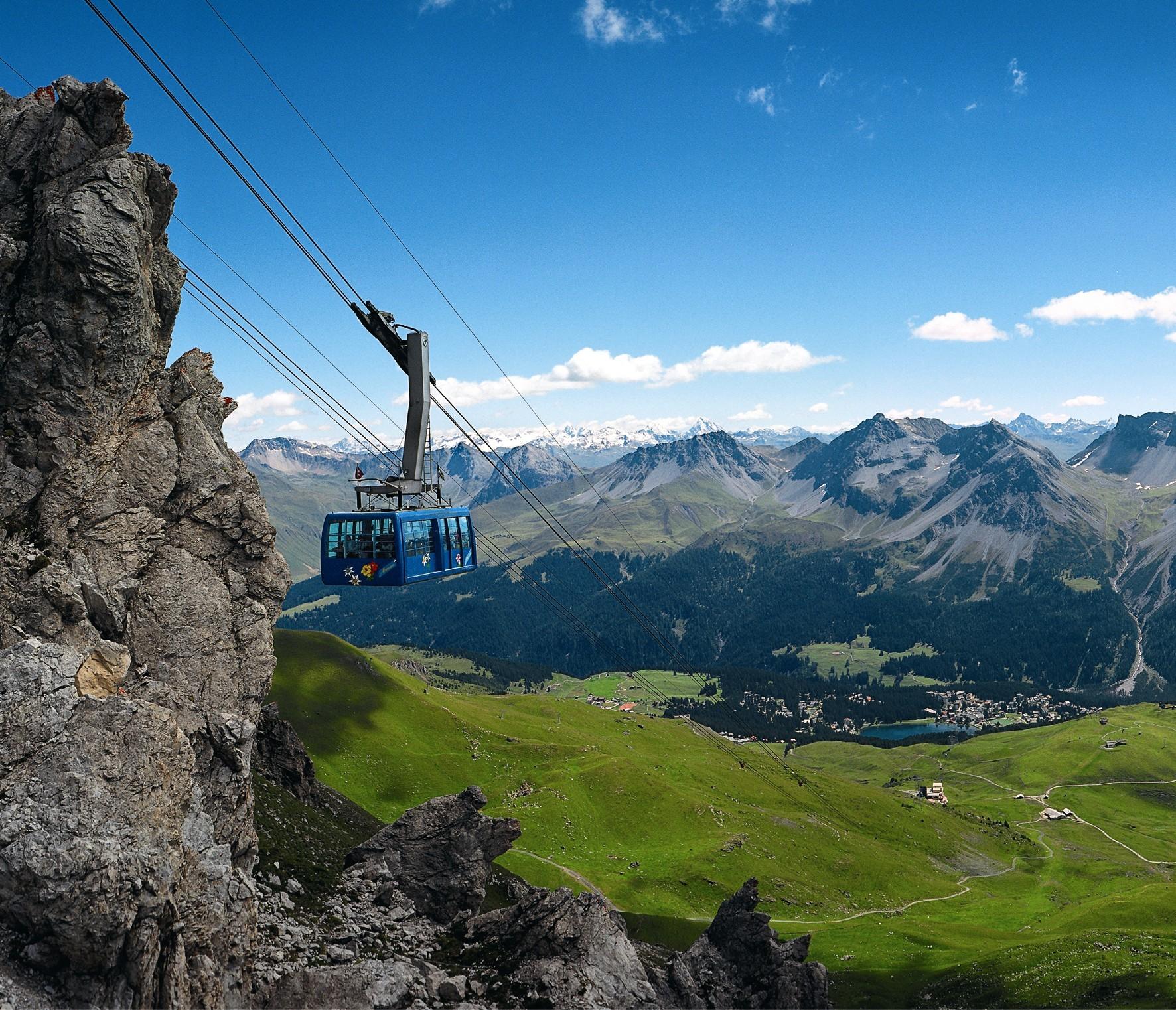 Pendelbahn Weisshorn, © Arosa Bergbahnen AG